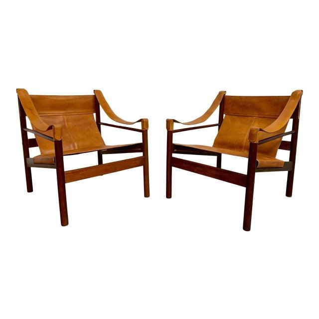 Abel Gonzalez Safari Sling Lounge Chairs - a Pair For Sale
