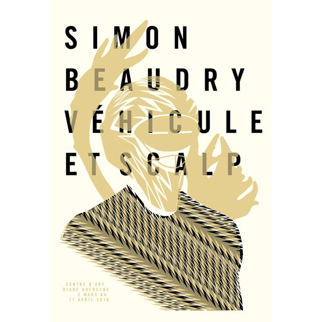 Contemporary Minimalist Exhibition Poster, Vehicule and Scalp For Sale - Image 3 of 3