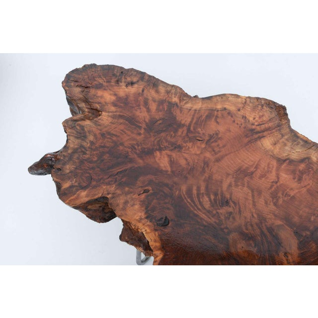 Wood Gorgeous Redwood Tables For Sale - Image 7 of 10