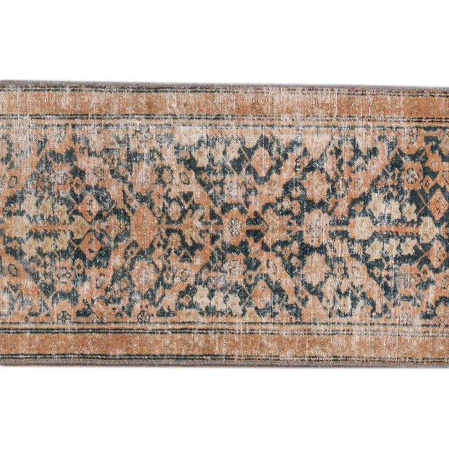 "Apadana-Antique Persian Distressed Rug, 2'4"" X 15'10"" For Sale - Image 4 of 10"