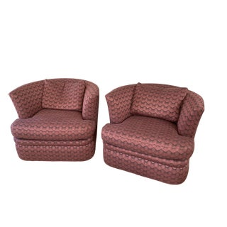 Newly Upholstered Swaim Barrel Chairs - a Pair For Sale