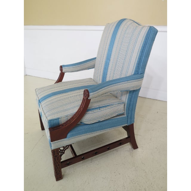 Modern Kindel Chippendale Mahogany Upholstered Chairs- A Pair For Sale In Philadelphia - Image 6 of 13