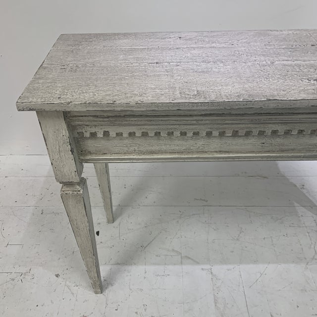 1990s Custom Console With Antique Pediment For Sale - Image 4 of 13