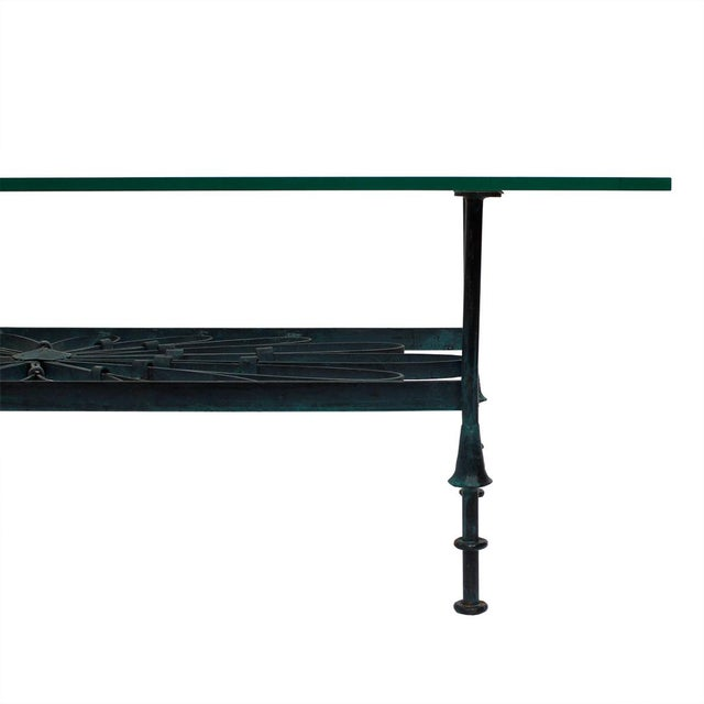 Decorator Wrought Iron & Glass Coffee Table - Image 6 of 7