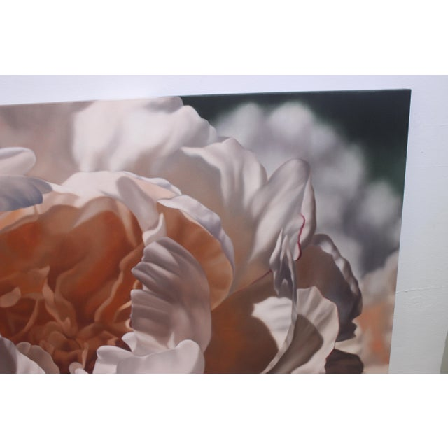 """2000 - 2009 Vintage Winifred Godfrey Painting """"Pale Peony"""" For Sale - Image 5 of 13"""