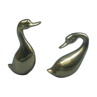 Brass Ducks - A Pair