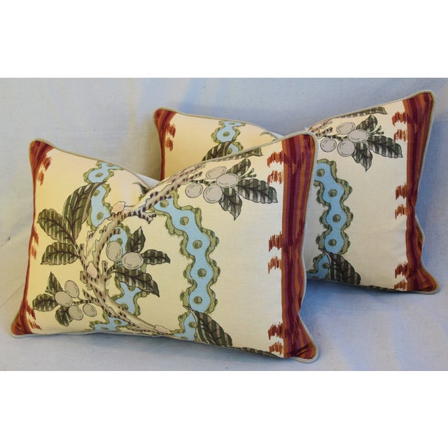 "Red Brunschwig & Fils Josselin Feather/Down Pillows 26"" X 17"" - Pair For Sale - Image 8 of 13"