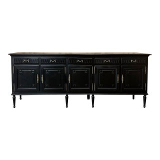 Grand Buffet, Louis XVI French in Black For Sale