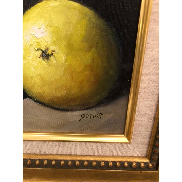 Traditional Realistic Still Life Paintings of Pears - a Pair For Sale - Image 3 of 8