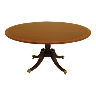 1990s Vintage Baker Mahogany Round Dining Table For Sale