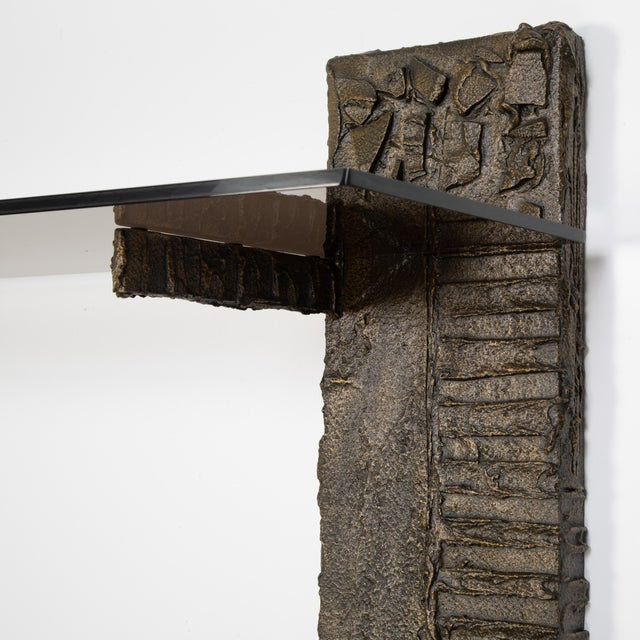 1970s Paul Evans Sculpted Metal Shelving Unit, 1974 For Sale - Image 5 of 13