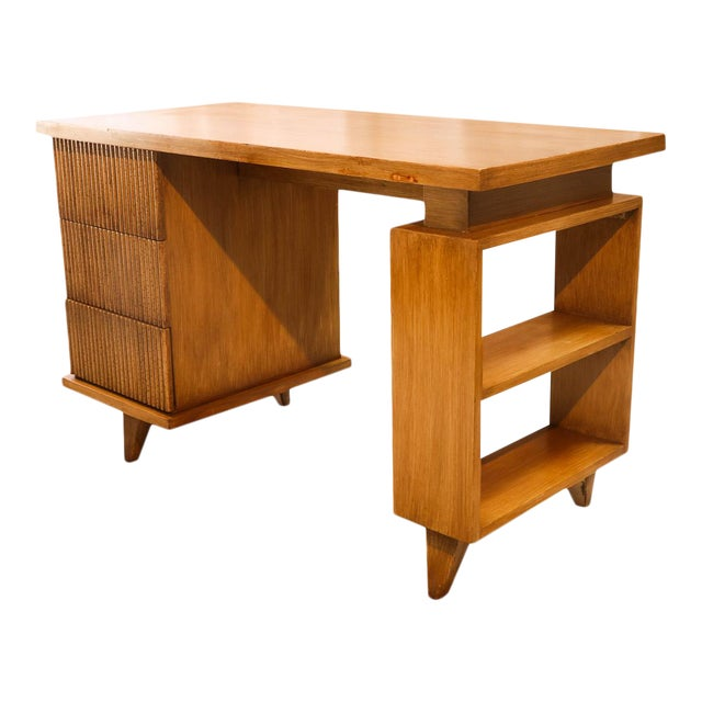 American Of Martinsville Bamboo Desk For Sale