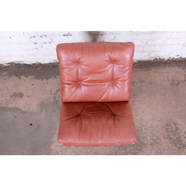 Ingmar Relling for Westnofa Bentwood Teak and Leather Siesta Lounge Chair For Sale In South Bend - Image 6 of 8