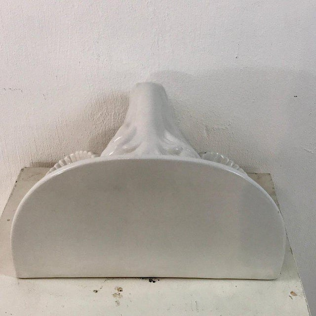 Ceramic Italian Blanc De Chine Porcelain Ram Wall Shelf For Sale - Image 7 of 10