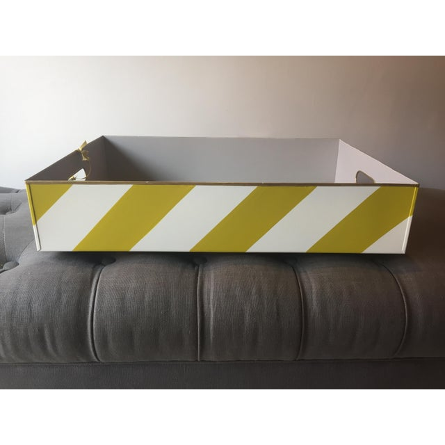 2010s Stray Dog Designs Striped Chelsea Tray For Sale - Image 5 of 8