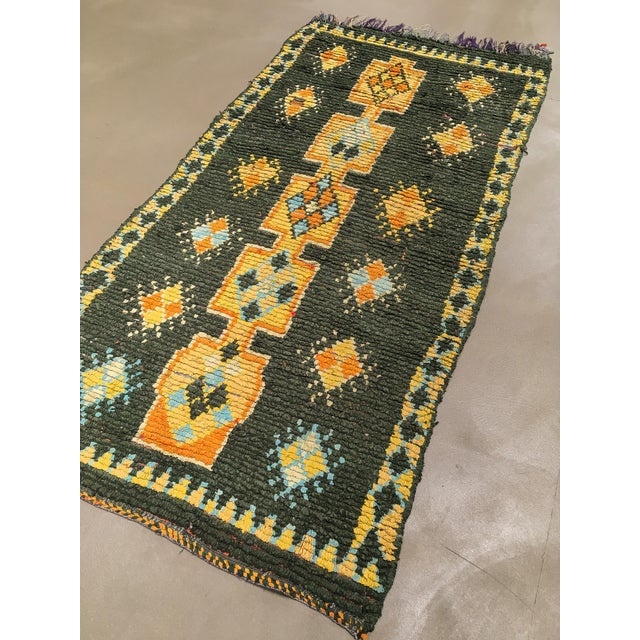 """Vintage Moroccan Rug, 3'10"""" X 7'5"""" For Sale - Image 9 of 10"""