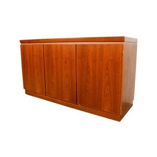 Danish Modern Skovby Teak Credenza Sideboard Server Entertainment Center For Sale
