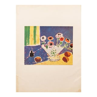 "1946 Henri Matisse Original ""Still Life With Flowers"" Parisian Period Lithograph For Sale"