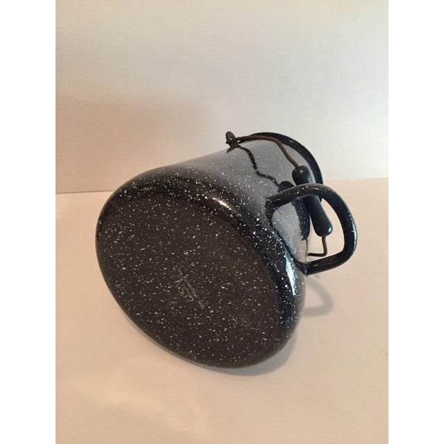 WW2 Navy Black Speckled Enamel Coffee Pot - Image 5 of 6