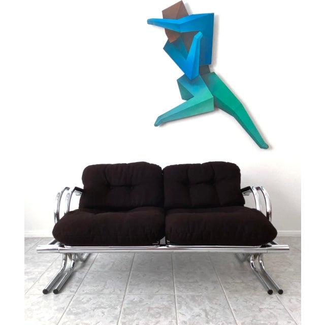 Mid Century Modern Jerry Johnson Chrome Loveseat For Sale - Image 10 of 13