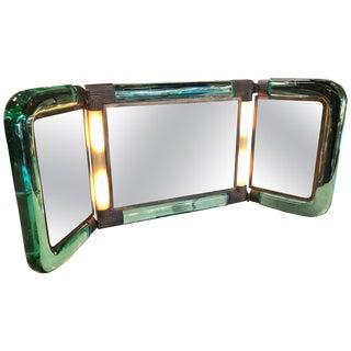 Triple Vanity Table Light Mirror, 1940s For Sale
