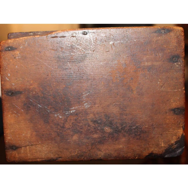 Early 19th Century New England Painted Walnut Pipe Wall Box - Image 4 of 6