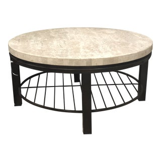 Transitional Bernhardt Tempo Round Coffee Table For Sale