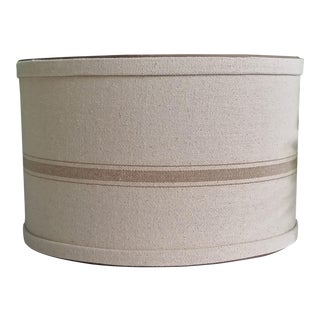 Lampshade Grain Sack Beige Large Drum For Sale