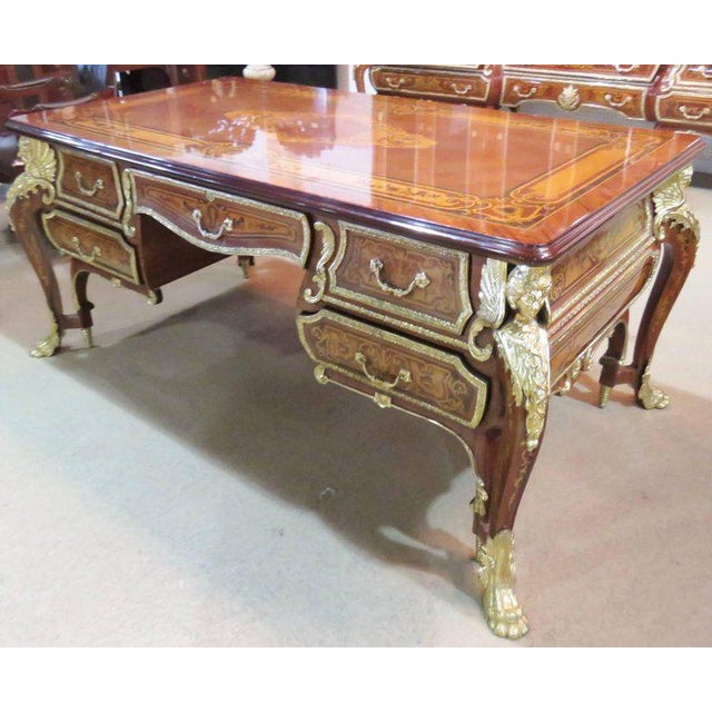 Three-Piece Italian Style Inlaid Figural Office Set For Sale In Philadelphia - Image 6 of 11