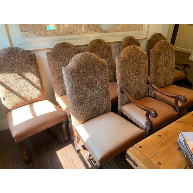 Vintage French Louis XV Style Dining Chairs - Set of 8 For Sale - Image 11 of 13