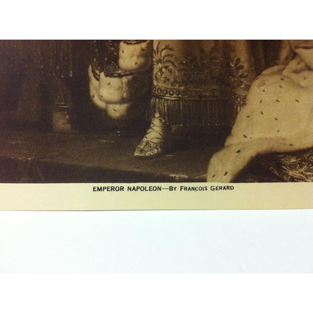 "Figurative Circa 1915 ""Emperor Napoleon"" the Mentor Association Print For Sale - Image 3 of 4"