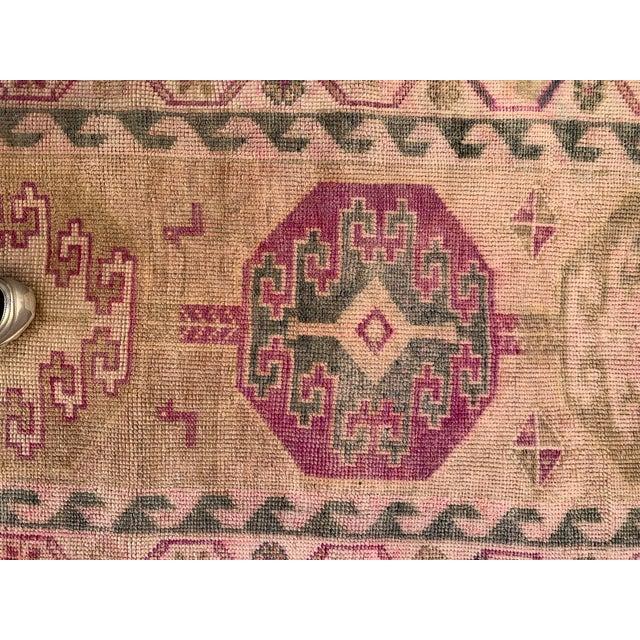 Mid 20th Century Oushak Runner- 2′8″ × 13′4″ For Sale - Image 4 of 8