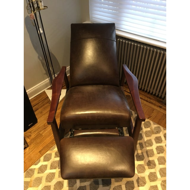 Brown Arhaus Wordsmith Leather Recliner For Sale - Image 8 of 10