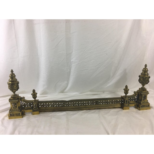 French Louis XVI Brass Chenet - 3 Pieces For Sale - Image 10 of 10