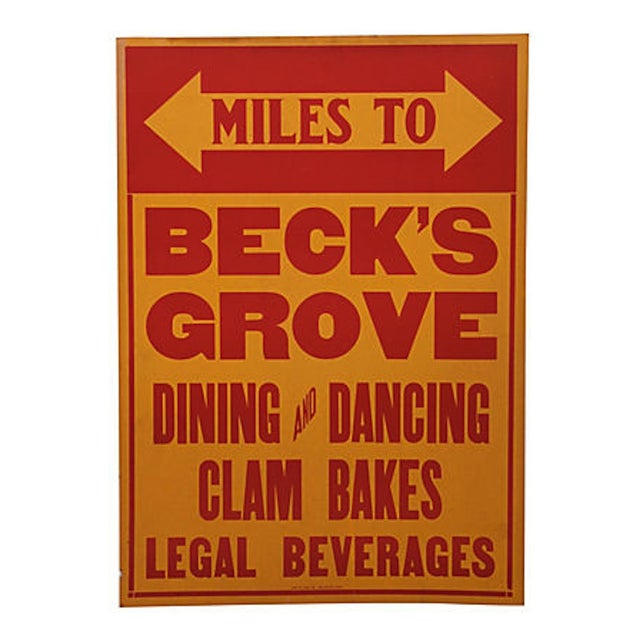Vintage Beck's Grove Sign - Image 1 of 2