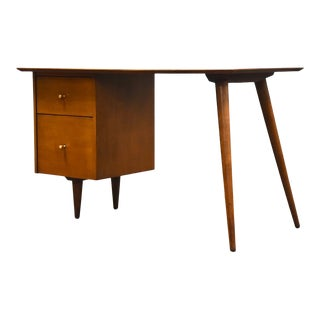 Paul McCobb Planner Group Solid Maple Desk Mid Century Modern For Sale