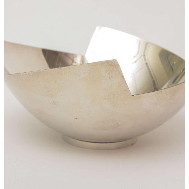 Swid Powell Signed Sculptural Silver Plate Bowl by Elsa Rady for Swid Powell For Sale - Image 4 of 11