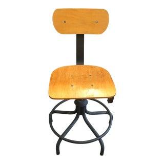 Bevko Wood & Metal Drafting Table Chair