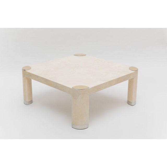 Pair of 1980s Karl Springer Goatskin Occasional Tables For Sale In New York - Image 6 of 11