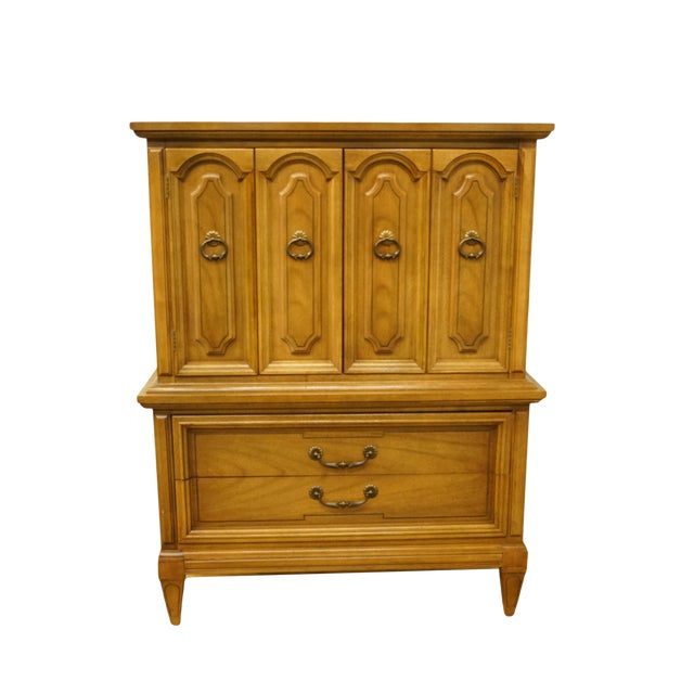 20th Century Italian Dixie Furniture Door Chest on Chest For Sale