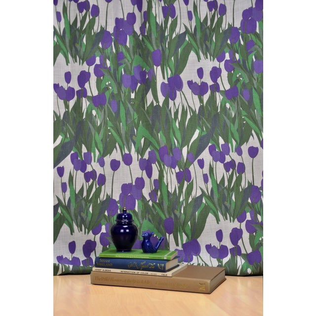 In Bloom Fabric in Thistle Purple, 5 Yards For Sale - Image 6 of 7