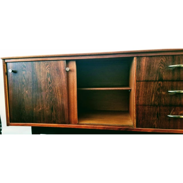 Auburn 1960s Danish Modern Jentique Furniture Tola and Rosewood Credenza For Sale - Image 8 of 12