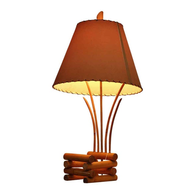 Bamboo Lamps - a Pair For Sale - Image 11 of 13