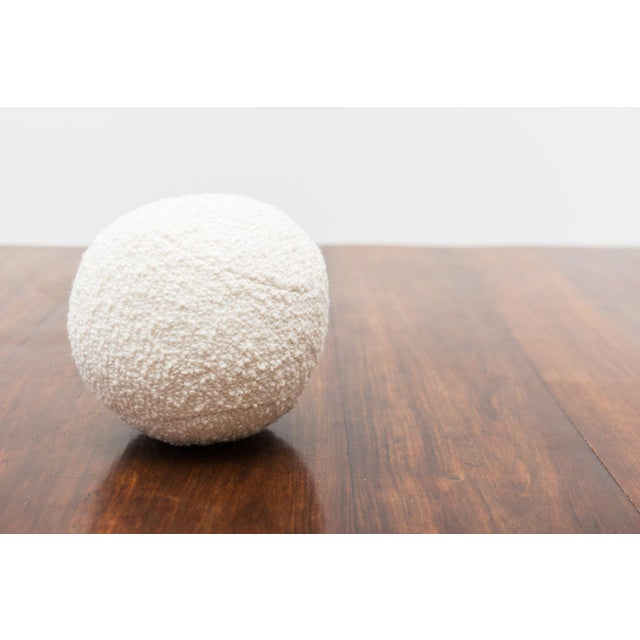 White Architectural Pillows by Hunt Modern in Textural Wools For Sale - Image 8 of 10