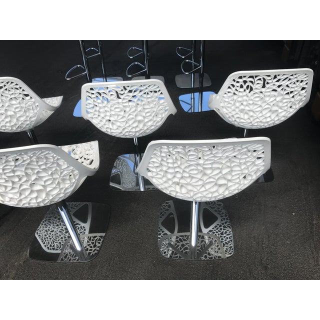 Metal Casprini White Dining Chairs - Set of 8 For Sale - Image 7 of 11