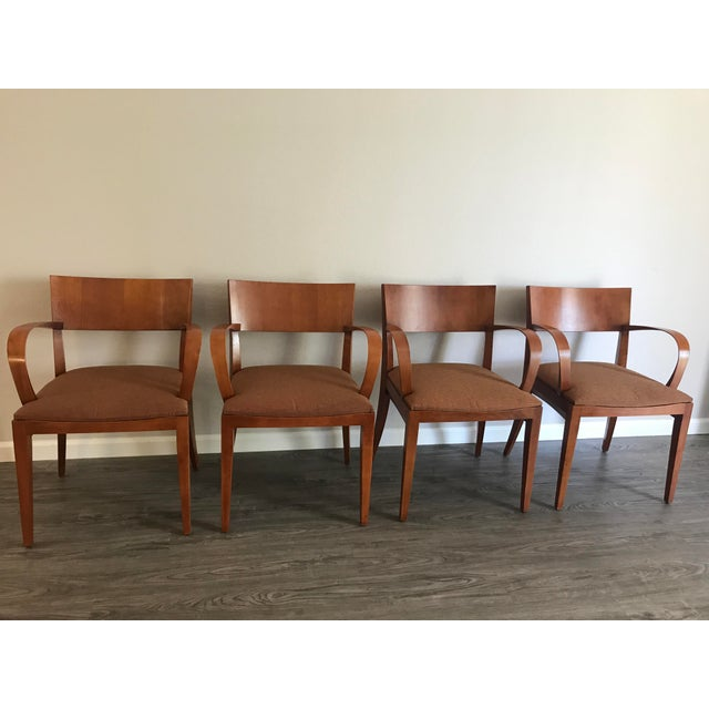 Knoll Crinion Cherrywood Ribbon-Band Arm Side Chairs - Set of 4 For Sale - Image 11 of 11