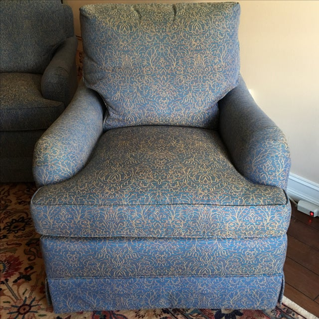 Baker Swivel Club Chairs - A Pair - Image 2 of 6