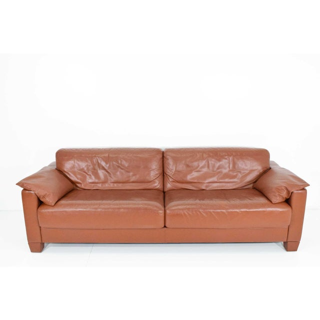 Contemporary De Sede Leather Sofa For Sale - Image 3 of 10