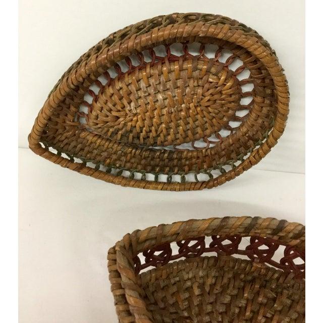 1930s Boho Chic Lidded Teardrop Shaped Basket For Sale - Image 9 of 13