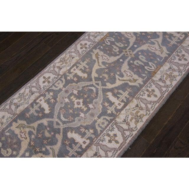 """Textile Apadana - 21st Century Oushak Style Rug, 2'5"""" x 19'9"""" For Sale - Image 7 of 8"""